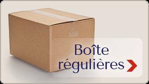 Boîtes régulières - emballage sur mesure