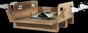 Séparateurs et les palettes en carton ondulé - emballage sur mesure